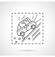 Car accident in the mountains line icon vector image vector image