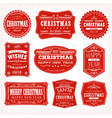 christmas frames banners and badges vector image vector image