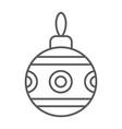 christmas tree ball thin line icon xmas bauble vector image vector image