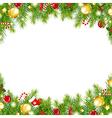 Christmas Vintage Border vector image vector image