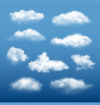 cloudy sky realistic beautiful white clouds vector image vector image