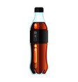 cola bottle icon soda bottle with black lable vector image vector image
