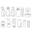 collection various medications isolated vector image vector image