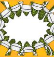 colorful beer menu design template vector image vector image