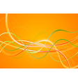 Colourful wavy design vector image vector image