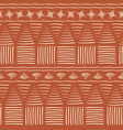 contemporary orange and white tribal seamless vector image