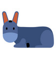 cute donkey icon vector image