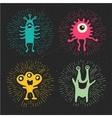 cute happy monsters vector image vector image