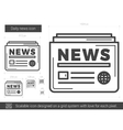 Daily news line icon vector image vector image