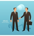 Dialogue business conceptual with vector image vector image