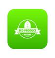 eco market icon green vector image vector image