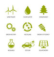 ecology and nature conservation icons flat design vector image