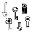 electronic circuit keys vector image vector image