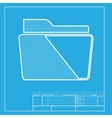 Folder sign White section of icon on vector image vector image