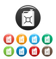 gas canister icons set color vector image