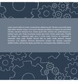 Gears pattern with text vector image vector image