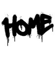 graffiti home word sprayed isolated on white vector image vector image