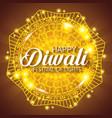 happy diwali festival of lights with mandala vector image