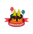 Happy twenty fifth birthday badge icon vector image vector image