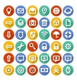 Icons set with long shadow vector image