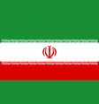 iranian flag flat layout vector image