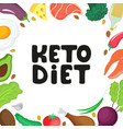 keto diet hand drawn ketogenic low carb vector image vector image