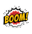 lettering boom bomb comic text sound effects vector image vector image