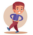 little boy merrily walks put your hands on your vector image vector image