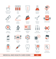 Medical and Health Care Icons Set 04 vector image vector image