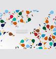 modern arabesque hexagonal pattern colorful vector image vector image