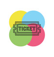 movie ticket admit one admission pass vector image vector image