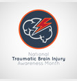 national traumatic brain injury awareness month vector image vector image