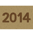 New year 2014 is coming soon3 vector image vector image
