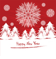 New Years card or invitation with snowflakes vector image vector image