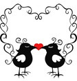 ornamental loving birds vector image vector image