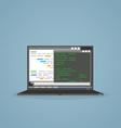 Programming notebook vector image