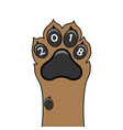 puppy animal paw tattoo chinese new year of vector image vector image