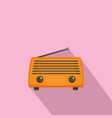 radio antenna icon flat style vector image