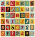 Retro alphabet for you business presentations vector image