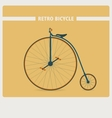 Retro style of old vintage bicycle vector image vector image