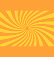 retro sunburst ray in vintage style spiral effect vector image vector image