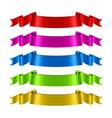 ribbon velvet textile fabric banner vector image