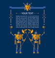 Robot text vector image