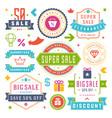sale labels and tags design vintage set vector image vector image
