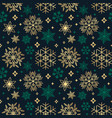 seamless christmas background with different vector image vector image