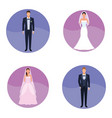 set of wedding suits vector image
