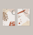 set tropical summer artistic greeting cards vector image