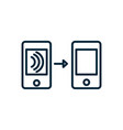 smartphones transfer wifi internet things line vector image