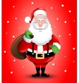 Smiling Cartoon Santa Claus greeting vector image vector image