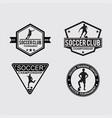 soccer logo badges vector image vector image